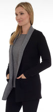 Load image into Gallery viewer, Two Tone Shawl Collar Cardigan (DK-705)