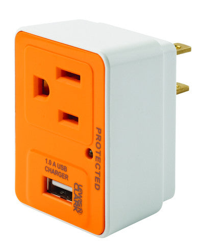 Compact Surge Protector with USB Charger