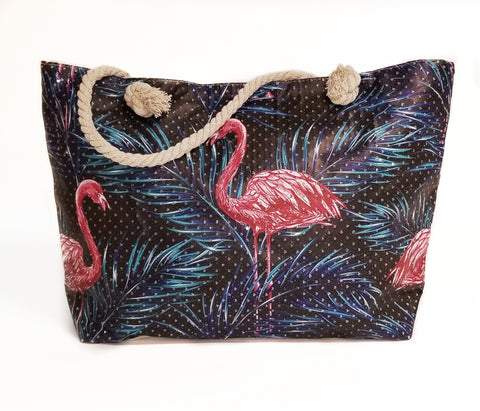 Beach Bag Flamingo Rhinestone