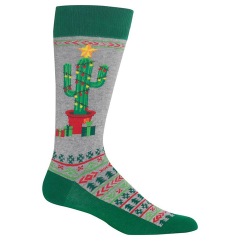 Men's Christmas Cactus Socks (HMH00013)