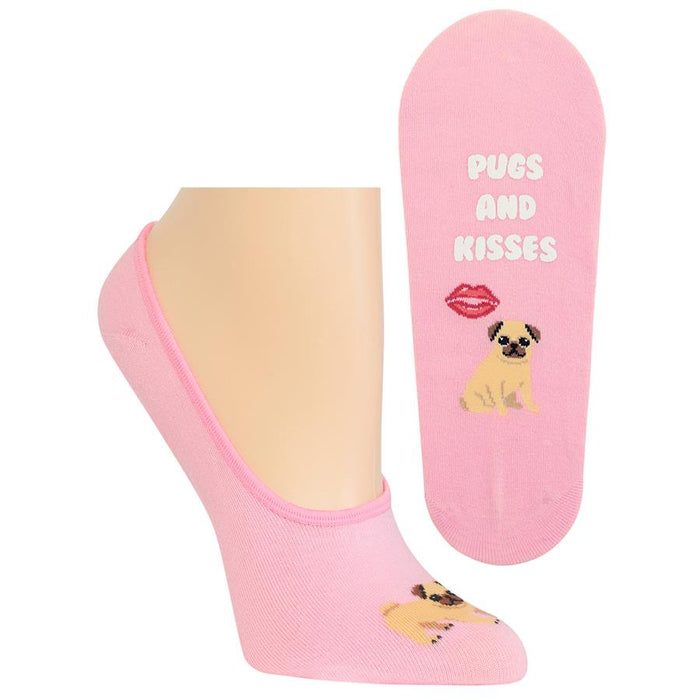 Women's Liner Socks Pugs And Kisses (HO002642)