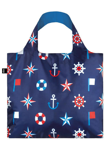 Loqi Shoppers Tote Nautical