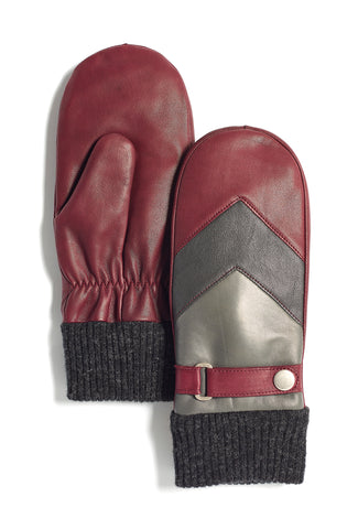 Ladies Kidskin Leather Mittens (Available in other colours)