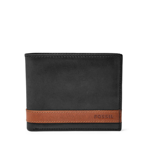 Leather Men's Bifold Wallet with Flip ID Quinn Collection