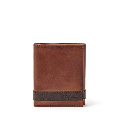 Leather Men's Trifold Wallet Quinn Collection