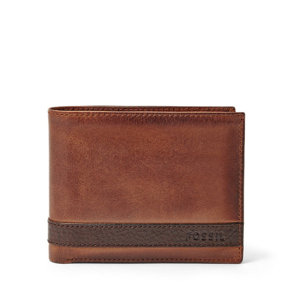 Leather Men's Leather Passcase Wallet