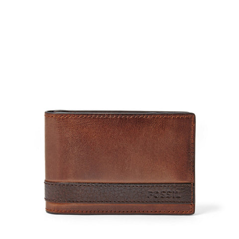 Leather Men's Bifold Wallet with Money Clip Quinn Collection