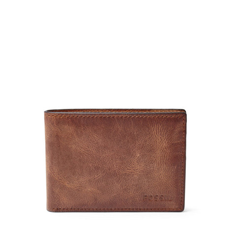 Leather Men's Bifold Wallet Derrick Collection