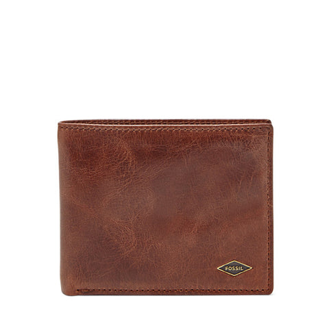 Leather Men's Bifold Wallet with Flip ID & RFID Blocking Ryan Collection