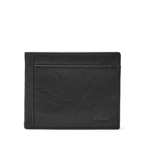Leather Men's Bifold Wallet with Flip ID Neel Collection