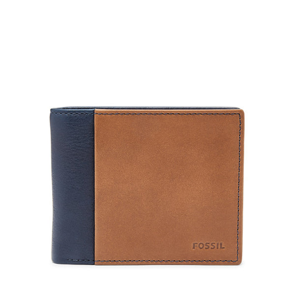 Leather Men's Bifold Wallet with Flip ID & RFID Blocking Ward Collection