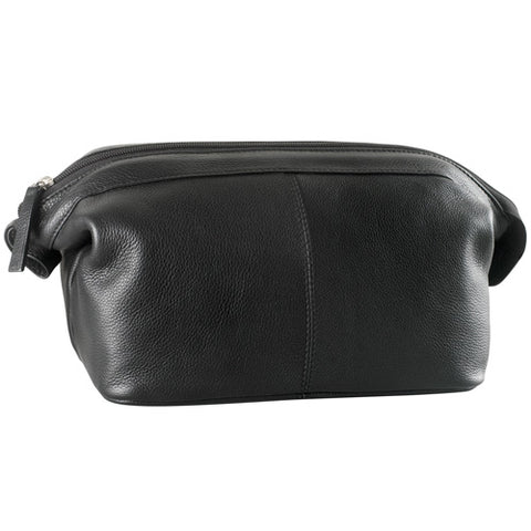 Leather Toiletry Bag Single Top Zip (PB-1701)