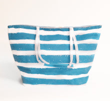 Load image into Gallery viewer, Beach Bag Pineapple Stripe