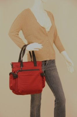 Nylon Large Tote with Top Zip (PW-20555)