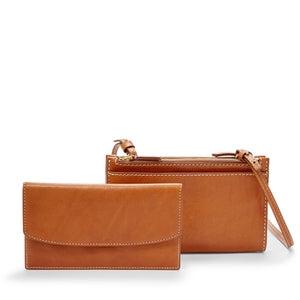 Leather Crossbody Mini Bag Sage Collection
