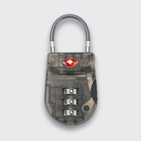 Briggs & Riley TSA Cable Luggage Lock Plastic (ACC-W15-21) Smoke