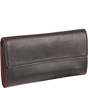 Leather Ladies' Wallet 3-Part Cheque Book (TU-856)