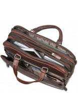 Load image into Gallery viewer, Leather Briefcase Expandable Double Compartment (99-5467)