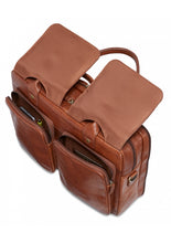 Load image into Gallery viewer, Leather Briefcase Litigator Laptop Compatible (95-601)