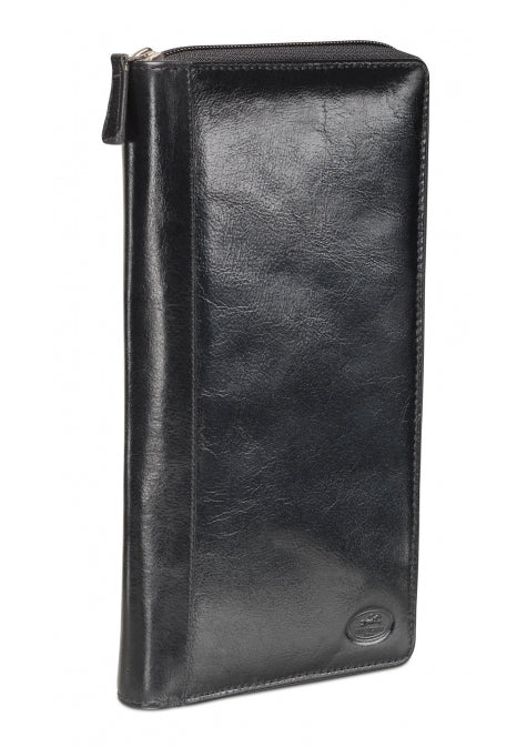 Leather Travel Wallet Deluxe with Passport Pocket RFID (52945)