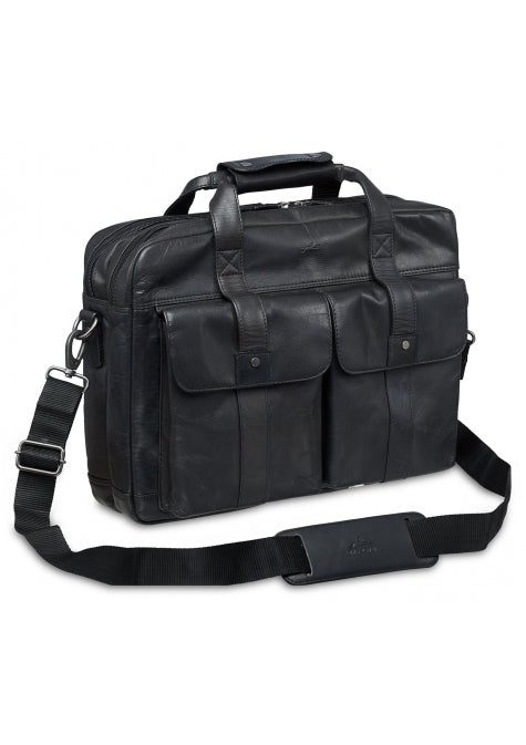 Leather Briefcase Double Compartment (99-5466)