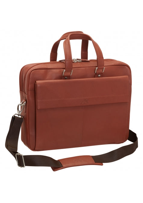 Leather Briefcase for Laptop and Tablet RFID (98220)