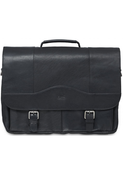 Leather Briefcase for 15.6'' Laptop/Tablet (99-5465)