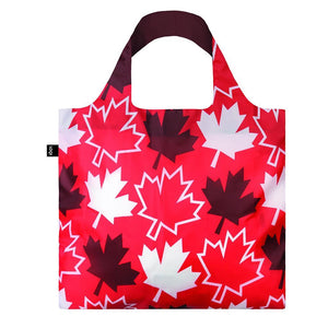 Loqi Shoppers Tote Travel Maple Leaves