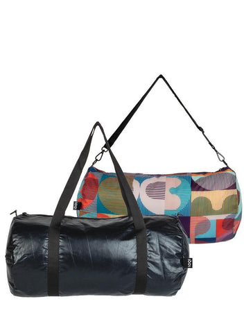 Loqi Reversible Duffel Matt Black & Retro Design