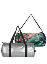 Load image into Gallery viewer, Loqi Reversible Duffel Matt Silver & Magic Mountains
