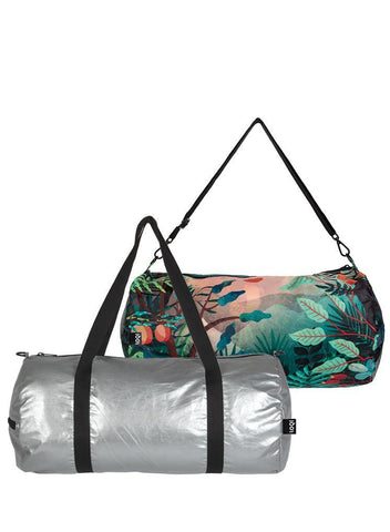 Loqi Reversible Duffel Matt Silver & Magic Mountains