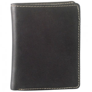 Leather Men's Wallet with Center Wing (DR-8204)