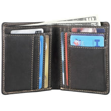 Load image into Gallery viewer, Leather Men's Wallet with Center Wing (DR-8204)