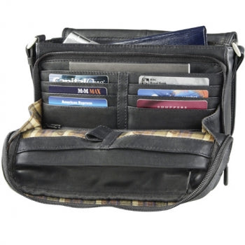 Leather Organizer Three-Quarter Flap (OB-9584)