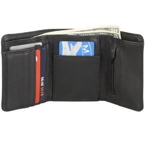 Leather Men's Trifold Wallet (TU-840)