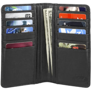 Leather Men's Slim Breast Pocket Wallet (TU-898)