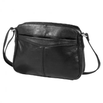 Leather Handbag East/West Triple Top Zip (OB-7138)