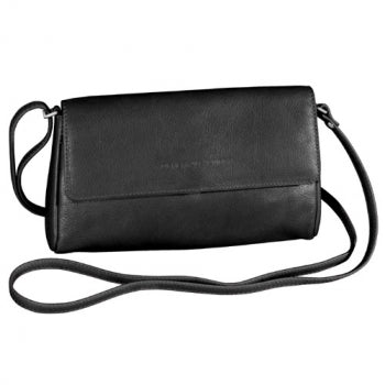 Leather Ladies' Handbag Small East/West Half Flap (OB-7151)