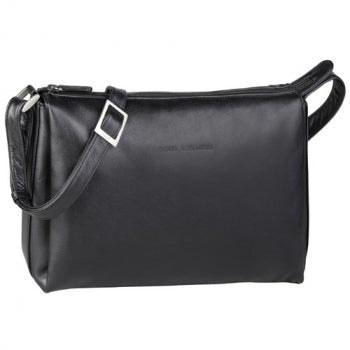 Leather Ladies' Handbag Classic Top Zip (OB-7164)