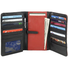 Load image into Gallery viewer, Leather Ladies' Wallet Tri-Fold (TU-781)