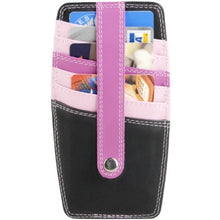 Load image into Gallery viewer, Leather Ladies' Wallet 2-Sided Credit Card Holder (TU-400)