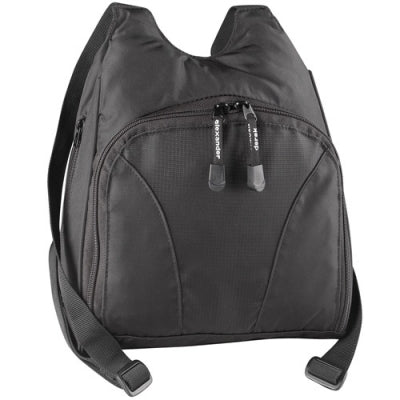 Nylon Backpack Small with Front Zip Organizer (PW-20159)