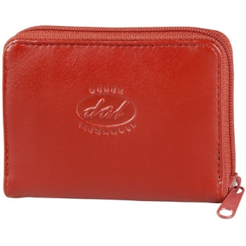 Leather Ladies' Wallet Accordion Style Credit Card Holder, Full Zip (AZ-409)