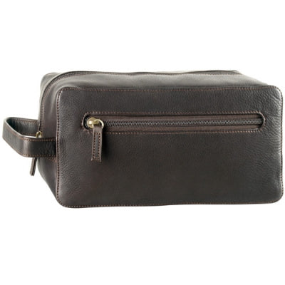 Leather Toiletry Bag Single Top Zip (PB-1697)