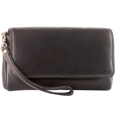 Leather Half flap glasses/phone clutch (SA-224)