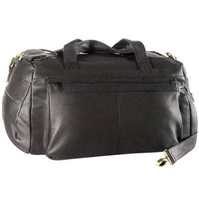 Leather Duffle Bag Twin Top Zips (PB-9724)