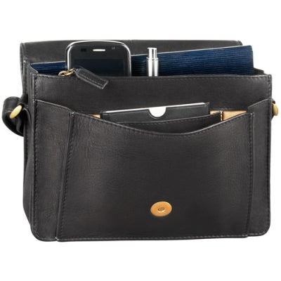 Leather Organizer Small 3/4 Flap Multi Compartment (DR-8055)