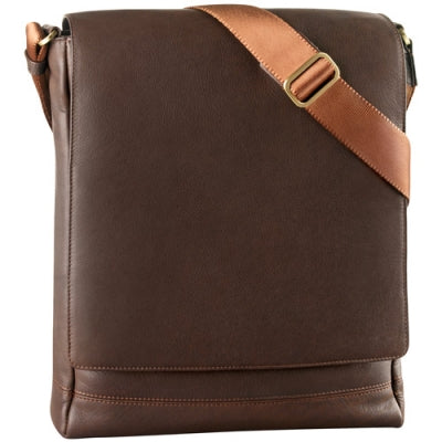Leather Messenger Bag North/South 3/4 Flap (PB-8120)