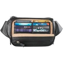 Load image into Gallery viewer, Leather Waist Pack 4 Pocket Organizer (FN-9010)