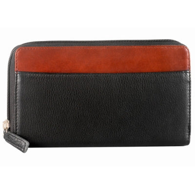 Leather Ladies' Wallet Zip Around (CD-575)